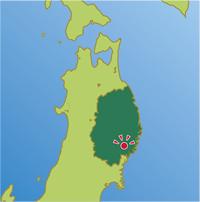 岩手県住田町の地図