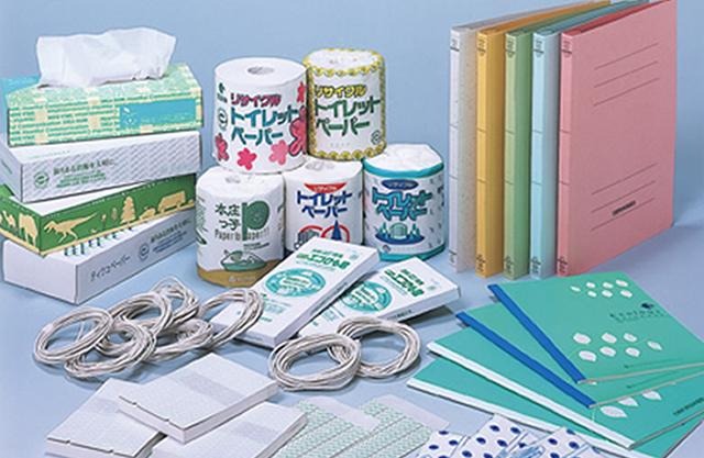 回収古紙リサイクル製品